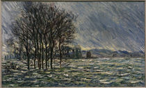 Monet / Flood / 1881 / Painting by AKG  Images