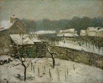 A.Sisley, Louveciennes im Schnee (Schneesturm in Marly) von AKG  Images