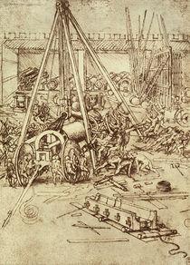 Vinci, L. da / Geschützgießerei/um 1485 by AKG  Images