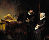 "Rembrandt, ""The Mennonite Preacher Anslo and his Wife"" / Oil painting, 1641 by AKG  Images"