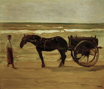 "M.Liebermann, ""The Lifeguard's Cart"" / painting by AKG  Images"