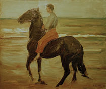 "M.Liebermann, ""Young Rider - groom at a beach"" / painting 1909 by AKG  Images"