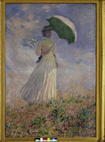 Monet / Woman with Parasol Turned to the Right / 1886. by AKG  Images