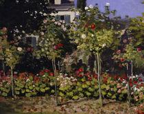 C.Monet, Blühender Garten (Ausschnitt) von AKG  Images