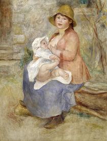 A.Renoir, Mutterglück. Stillende Mutter von AKG  Images