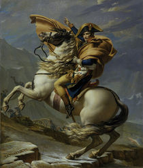 Napoleon in the Alps / By Jacques Louis David, 1800. by AKG  Images