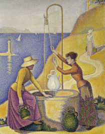 P.Signac / Women at a well / Detail by AKG  Images