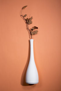 Still Life with Vase and white twig with leaves	 by Valentin Ivantsov