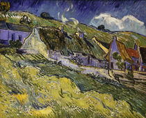 V. v. Gogh, Thatched Cottages / Paint./1890 by AKG  Images