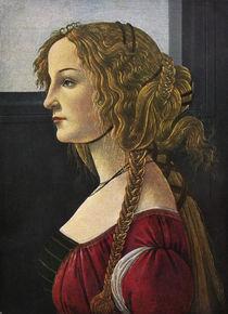 Botticelli / Female profile portrait/c1480 by AKG  Images