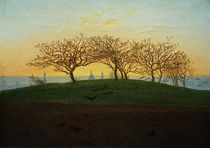 Friedrich / Hill with plowed field/c. 1820 by AKG  Images