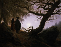 Friedrich / Man and woman, moon /  c. 1830 by AKG  Images