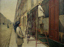 Caillebotte / Facade painters / Painting by AKG  Images