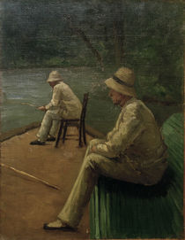 Caillebotte / Fishers on banks of Yerres by AKG  Images