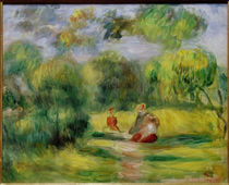 Renoir / People in a Landscape / 1900 by AKG  Images