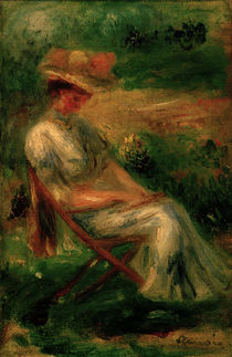 Renoir / Woman sitting in the Garden by AKG  Images