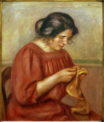 Renoir / Gabrielle sewing / 1908 by AKG  Images