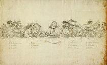 nach Leonardo, Abendmahl / Umrißsstich von AKG  Images