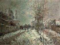 Monet / Boulevard de Pontoise at Argent. by AKG  Images