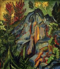 E.L.Kirchner, Landschaft m. blauen Felsen von AKG  Images