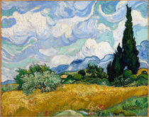 A Wheatfield, with Cypresses / V.v. Gogh / Painting 1889 by AKG  Images