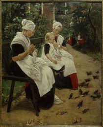 M. Liebermann, Amsterdamer Waisenmädchen im Garten von AKG  Images