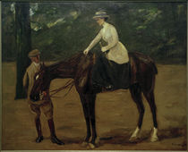 The Daughter of the Artist on Horseback / M. Liebermann / Painting, 1913 by AKG  Images