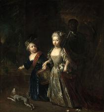Friedrich d. Gr. u. Wilhelmine / Pesne 1714 von AKG  Images