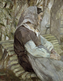 Toulouse-Lautrec, Old Woman on a Bench / Paint./ 1882 by AKG  Images