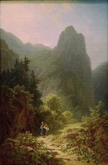 C.Spitzweg, Bergschüler am Ammerg. Kofel by AKG  Images