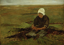 Max Liebermann, Seated Woman / painting by AKG  Images
