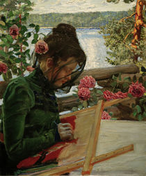 A.Gallen-Kallela, 'Marie with embroidery' / painting by AKG  Images