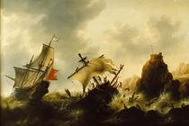 Jacob Bellevois, Schiffbruch im Sturm. von AKG  Images