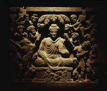 Versuchung des Buddha / ind. Relief von AKG  Images