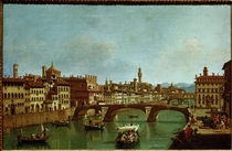 Florence, Ponte S.Trinita / Painting by Zocchi. by AKG  Images