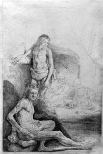 Rembrandt, Two Male Nudes / Etch./c. 1646 by AKG  Images