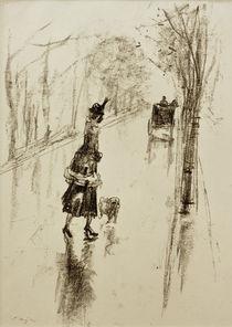 L.Ury, Mädchen mit Hund by AKG  Images