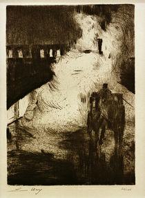 L.Ury, Nächtliche Impressionen (mit Droschke vor Lokomotivendampf) by AKG  Images
