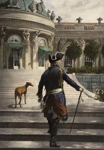 Friedrich d. Gr. in Sanssouci / n. Schöbel von AKG  Images