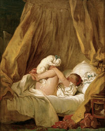 J.–H.Fragonard / Girl with dog by AKG  Images