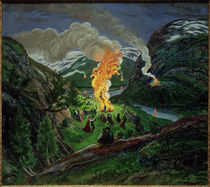 N.Astrup, St. Hans Mittsommernachtsfeuer by AKG  Images