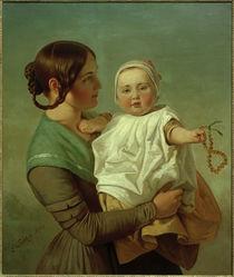 E.G.Leutze, Die Bernsteinkette (Ehefrau und Tochter) by AKG  Images