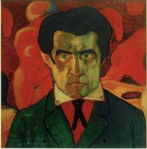 Kasimir Malewitsch, Selbstporträt, 1908-1910 by AKG  Images