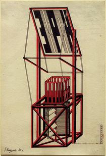 G.Klucis, Entwurf für einen Propagandastand mit Tribüne by AKG  Images
