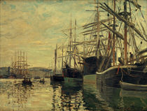 C.Monet, The port of Rouen / 1873 by AKG  Images
