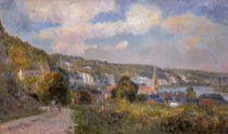 View of  La Bouille / A.C. Lebourg / Painting 1900 by AKG  Images