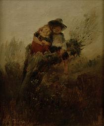 W.Busch, Kinder auf Weidenstumpf von AKG  Images