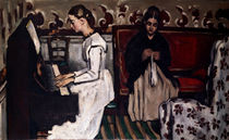 Cézanne, Girl at the piano by AKG  Images