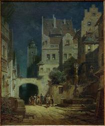 C.Spitzweg, Ständchen im Mondschein by AKG  Images