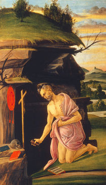 Botticelli / St. Jerome in the desert by AKG  Images